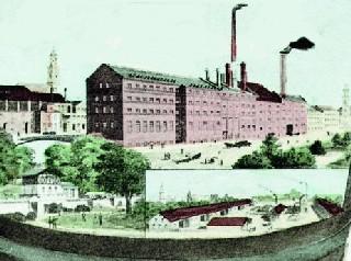 Die Anlagen der Erlanger Reifbräu um 1900